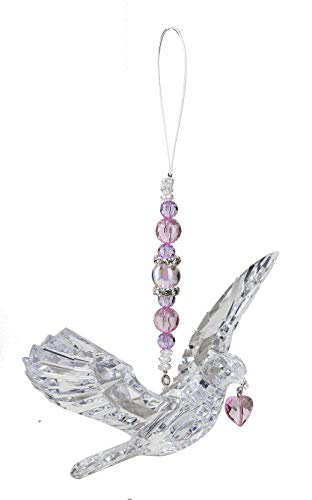 Ganz Crystal Expressions Hanging Dove with Heart