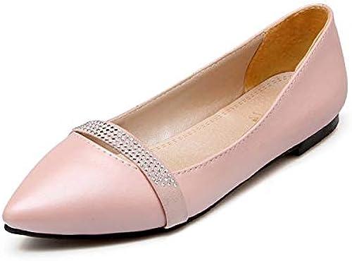HommesGLTX Talon Aiguille Talons Hauts Sandales 2019 Plus Plus La Taille 33-49 Femmes Chaussures Plates Bout Pointu Cristal Chaussures De Mariage Printemps été Simples Chaussures Les Les dames  haute qualité générale