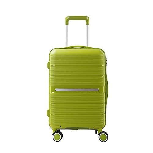 SGCDKSP Valigia Universal Wheel Boarding Case Password Box Box Carrello Bagagli Valigia,Verde,28 Inches