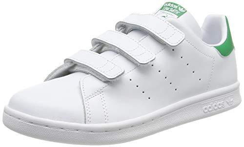 adidas Stan Smith CF, Zapatillas Unisex niños, Blanco (Footwear White/Footwear White/Green), 30 EU