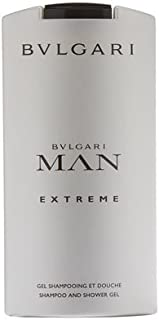 Bvlgari Man Extreme Shampoo and Shower Gel for Men, 6.8 Fluid Ounce