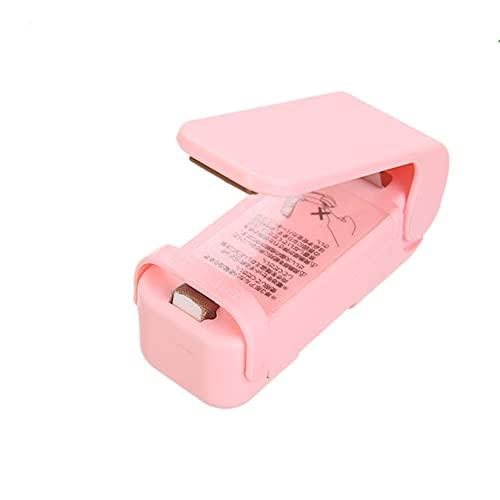 CCXX 2 Pcs Mini Sellador para Almacenamiento de Snacks, Sellador Térmico Ligero para Bolsas de Plástico, Operación Simple, Alimentado por Batería AA,Pink