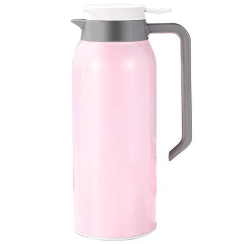 SODIAL 1,5 L Bouilloires Tasses en Acier Inoxydable Vide 24 Heures Flacon Bouteille d'eau Intelligente Simple Rose