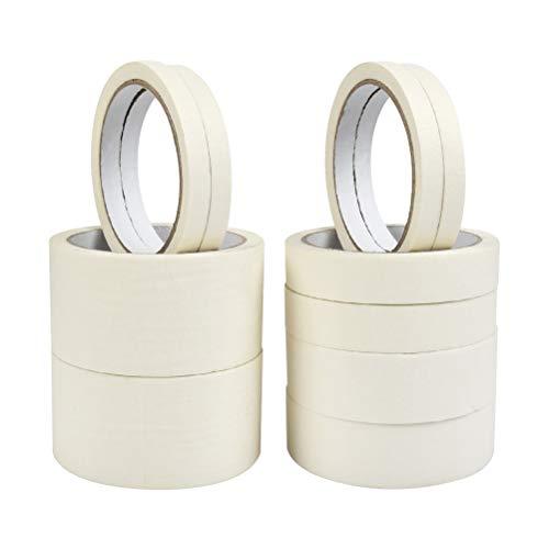 YOTINO Klebeband für Maler Klebeband 10er Packung Maler-Goldband Soft Tape Lackierband 50 mm × 20 m, 30 mm × 20 m, 20 mm × 20 m, 10 mm × 20 m