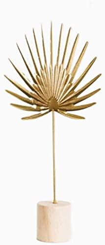 WQQLQX Statue Abstrakte Kunst skulptur Metall Statue Handwerk Dekoration eisenarbeit Druck Modell Room eingerichtete Dekoration zubehör Geschenk Figuren Skulpturen (Color : Palm Leaf-b)