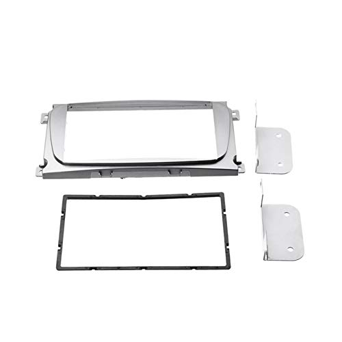 CLEIO 2DIN Coche Estéreo Radio DVD Panel O Monte Fascia Kit FIT FOR Ford Focus II Mondeo S-MAX C-MAX Galaxy II KUGA (Color Name : Silver)
