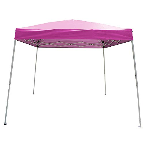 Polar Aurora 10' X 10' 5 Color Slant Leg Easy Pop up Popup Canopy Party Sun Shade Tent (Pink)