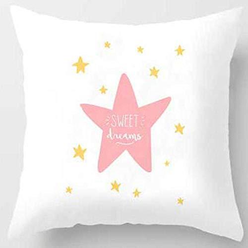 YXYLQ 2Pcs Pink Crown Eyelash Cushion Cover 45X45Cm Cartoon Smile Sleep Sweet Eyelashes Cute Pillow Case Home Decor-450Mm*450Mm_H