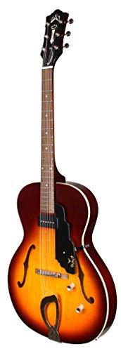 Guild Guitars T-50 Slim Hollow Body Guitarra eléctrica, Vintage Sunburst, con cola...