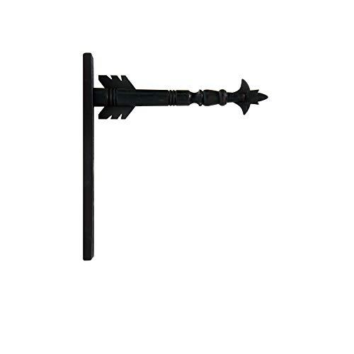 K&K Interiors Arrow Replacement Decorative Hanging Sign, Black