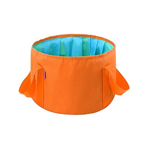 Doyime 折りたたみバケツ 携帯用 薄く畳める 足湯バケツ 15L 桶 アウトドア キャンプ 大容量 簡易バケツ 旅行 足湯 釣り 水くみ 洗車 専用収納袋付