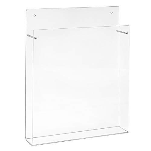 Din A4 Wandprospekthalter im Hochformat aus Acrylglas