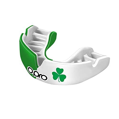 Opro Power-Fit | Adult Handmade Mundschutz | Gummischild für Rugby, Hockey, Lacrosse, Boxen und andere Kontakt - und Kampfsportarten (ab 10 Jahren) | 18 Monate zahnärztliche Garantie (Irland)