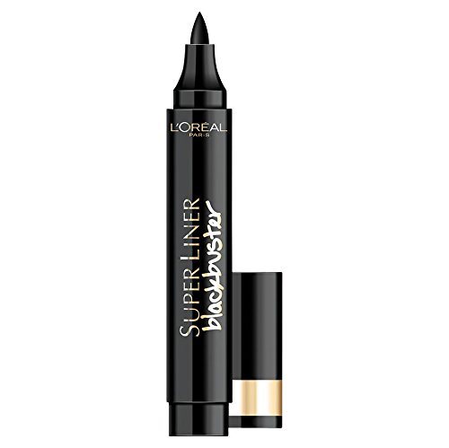 L´Oréal Paris Make Up Artist Eyeliner Super Liner Blackbuster, Lápiz de Ojos Trazo Fino y Grueso, Color Negro