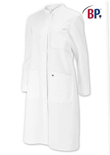 BP1614-130-21-12n Mantel für Frauen Langarm, Stehkragen 205,00 g/m² Reine Baumwolle, weiß 38n