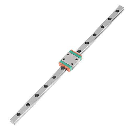 Hochpräzise Miniatur-Linearschiene aus Stahl mit Führungsblock(200mm), 1 stück Stahl Hohe Präzision Miniatur Linearschiene Führungsblock 200mm
