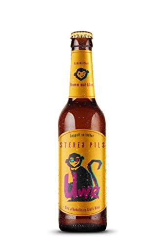 UWE – alkoholfreies Craft Beer aus Malz und Hopfen - 6x 330ml - Pale Ale in Glas-Bierflaschen, Malzbier perfekt für zuhause und unterwegs, Bierspezialitäten mit Craft Bier (Stereo Pils)