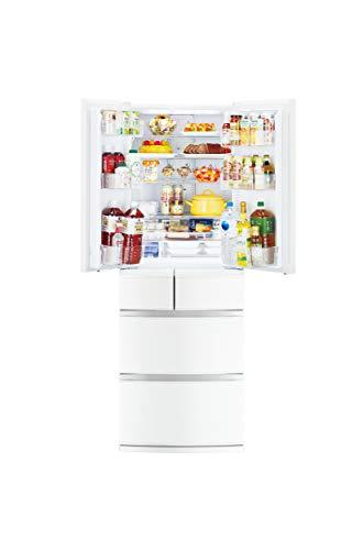 三菱電機 冷蔵庫(幅65cm) 462L 観音開き 6ドア 日本製 切れちゃう瞬冷凍 コンパクト大容量 MR-R46E-W