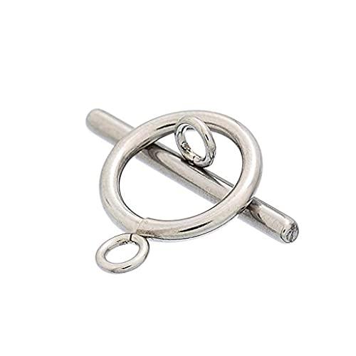 DealMux 10 Juego de pulsera de plata de acero inoxidable, cierres de palanca, conectores, fornituras de joyería
