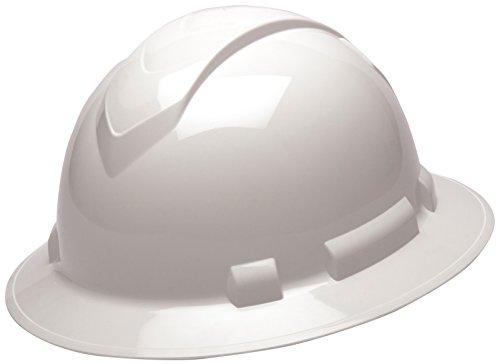 Best Prices! Pyramex Ridgeline Full Brim Hard Hat, 4-Point Ratchet Suspension, White