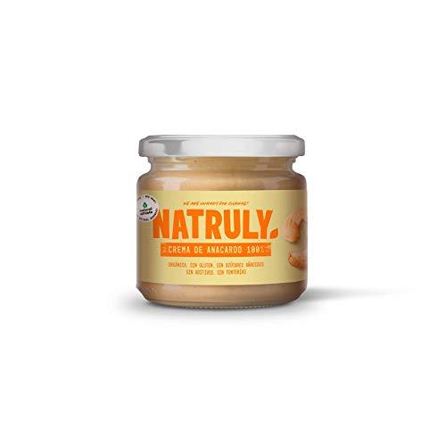 NATRULY Crema de Anacardos BIO, Mantequilla 100% Anacardo Sin Azúcar, Orgánica, Sin Gluten, Sin Aceite de Palma-300 g (antes Natural Athlete)