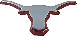 University of Texas Longhorns UTX Orange & Chrome Plated Premium Metal Logo Car Truck Motorcycle Longhorn NCAA College Emblem