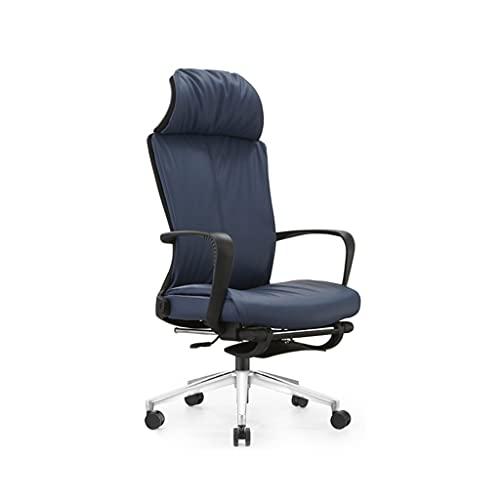 AWYST Silla de ordenador con respaldo alto, silla de oficina de piel sintética, ergonómica, silla de escritorio ejecutiva, para el hogar, oficina, cómoda (color azul)