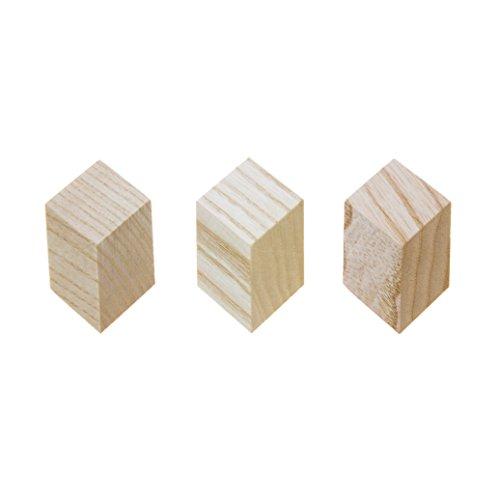 HAY Iso Wandhaken 3er Set, Natur BxHxT 3x3x2cm