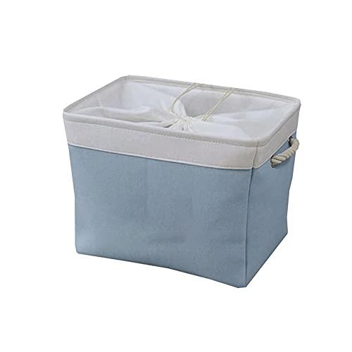 Dabeigouzzhiwl scatole per armadio, Borse di stoccaggio di abbigliamento organizzatore pieghevoli, ottimo per vestiti, coperte, armadi, camere da letto e altro (blu, grigio, rosa), dimensioni: S 12.9x