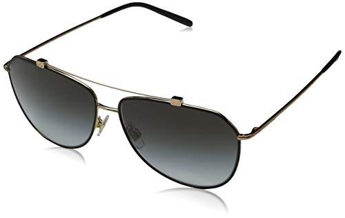 Dolce & Gabbana Damen 0DG2190 12968G 59 Sonnenbrille, Schwarz (Matte Black/Pink Gold/Lightgreygradientblack)