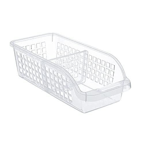 LiChaoWen Frigorífico Almacenamiento Refrigerador Almacenamiento Organizador Fruta Manejada Cocina Recolección Caja Cesta Estante Soporte Cesta Contenedor (Color : Clear, Size : 30x13.5x8.5cm)