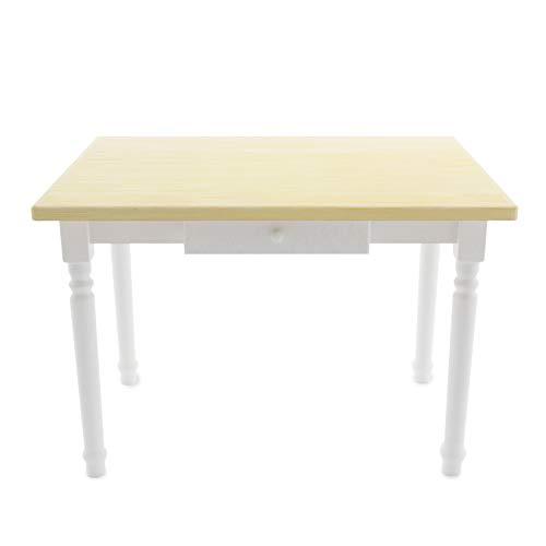 Magnetic Mobel Esstisch mit Schublade Küchentisch Tisch Massiv Kiefer Speisetisch massiv (50x80 cm, Unbehandelt)