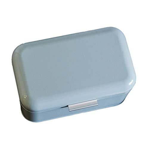 Boîte de rangement de nourriture de cuisine incurvée en acier de pain de cuisine américaine de style américain à la maison (30 * 18 * 16cm)