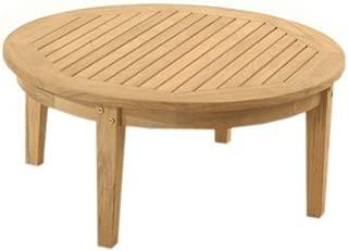 round outdoor teak coffee table