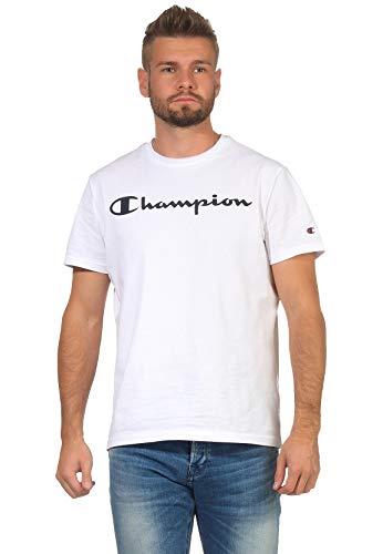Champion T-Shirt Herren 214747 F20 WW001 WHT Weiss, Größe:M