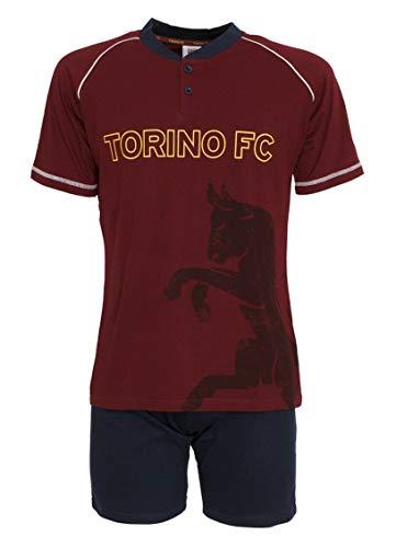 Pigiama Adulto Torino FC Estivo Corto PS 30137-L-bordeaux