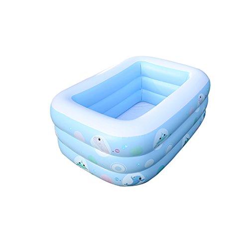 Infante Infantil Bomba Eléctrica Piscina Inflable Familia Bebé Adulto Niños Piscina De Padel Grueso Inicio Ocean Ball Pool Azul (Tamaño : 180cm)
