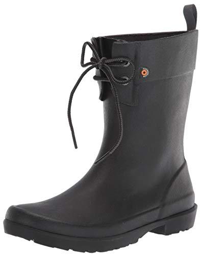 Bogs womens Flora 2 Eye Boot,Black,7 M US