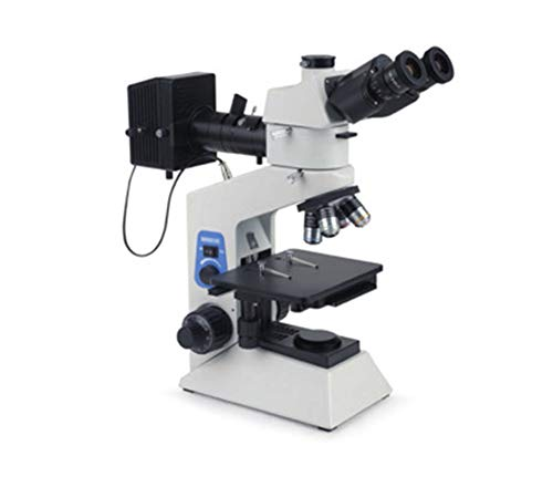 Sophia Polarized Microscope, 3000X Transflective Upright Portable Digital Metallographic Microscope Hardware and Metal Detection Polarized Microscope