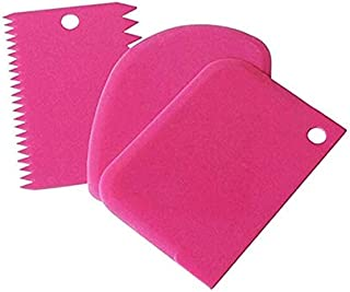 1 PCS Pastry Butter Scraper Cutter Baking Cake Decorating Tools 3-piece-Rose Red