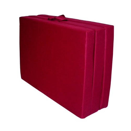 American Furniture Alliance Adult Trifold Hide 'A Mat Poly Cotton Twin, Burgundy
