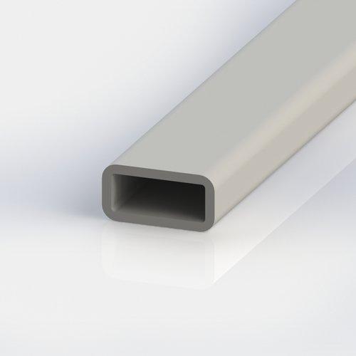 Thomafluid Rechteck-Rohr aus glasfaserverstärktem Kunststoff (GFK), A: 40 mm, B: 40 mm, C: 5 mm, Länge: 1.000 mm