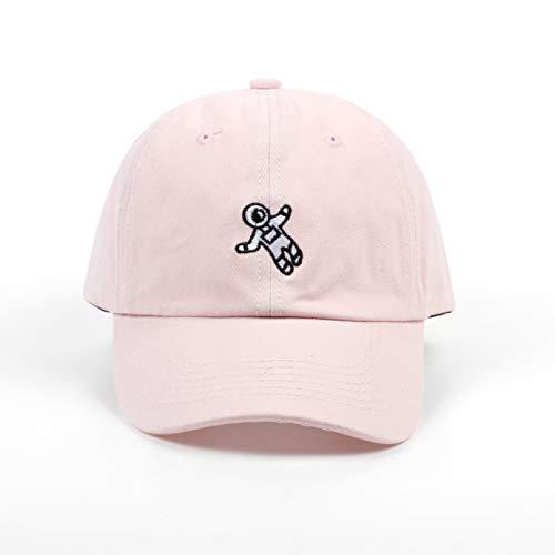 YIERJIU Gorra Gorras Beisbol Unisex Moda papá Sombrero Astronauta Emberoidery Gorra de béisbol 4 Colores Disponibles Snapback Sombreros Marca Sombrero Gorras al por Mayor,Pink
