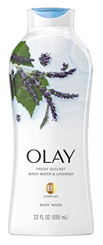 Olay Body Wash Fresh B3 Birch Water & Lavender 22 Ounce (650ml) (Pack of 3)