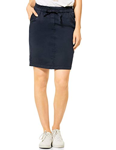 Cecil Damen 360653 TOS Chelsea Relax Skirt Rock, deep Blue, Medium