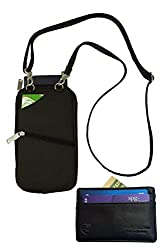 BeSafeBags Passport Holder and Leather Travelon Credit Card Wallet to travel or fly without ID