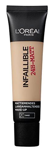L'Oréal Paris Infaillible 24H-Matt in Nr. 20 Sand, langanhaltendes Flüssig-Make-up mit hoher Deckkraft, 35 ml