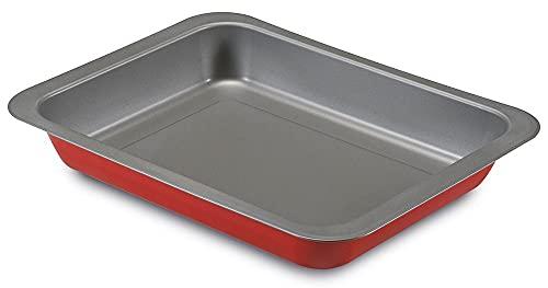 Guardini Rossana 2.0 - Lasañera 22 x 28 cm, acero con revestimiento antiadherente, color rojo/gris