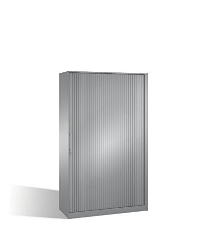 Preisvergleich Produktbild Aktenschrank Asisto mit Rollladen,  5 Ordnerhöhen,  H1980xB1200xT435mm