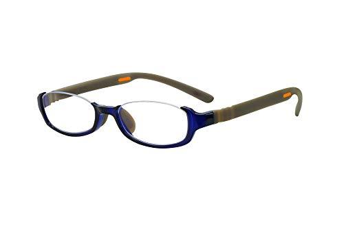 FLOAT READING フロート リーディング (老眼鏡) テンプル(腕)のカラーを選べる グッドデザイン賞受賞のオシャレな老眼鏡 鯖江企画 驚きの掛け心地 首にも掛けれる ブルーライトカット 超軽量 モデル:オーシャン (オーシャン + グレー, 度